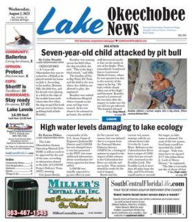 Okeechobee News front page